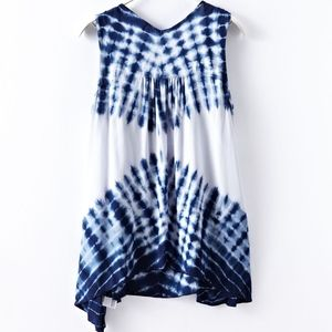 Oneworld Tops - Tie dye printed sleeveless blouse
